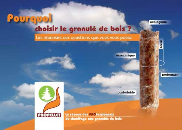Flyer Propellet : Pourquoi choisir le granulé de bois