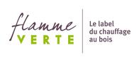 Logo Flamme Verte, le label du chauffage au bois