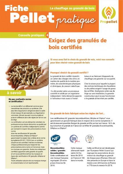 fiche pratique : Exigez des granulés de bois certifiés