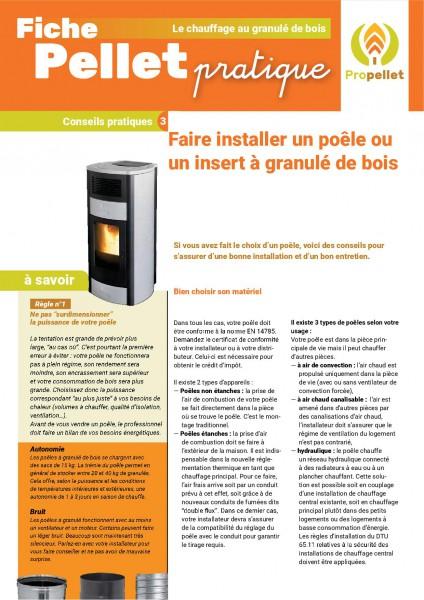 fiche pratique : faire installer un poele ou un insert à granulé de bois