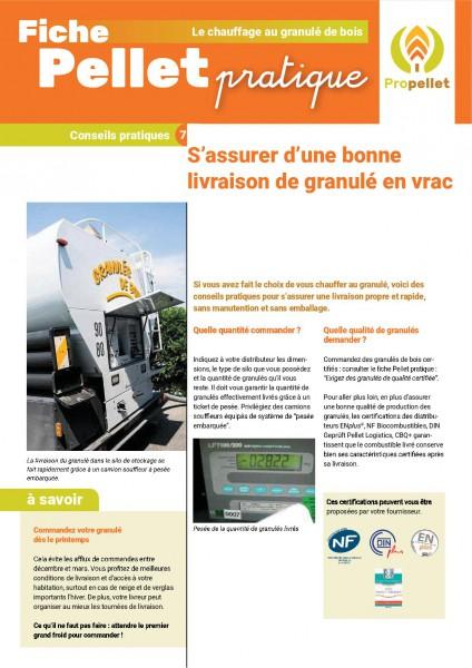 fiche pratique : S'assurer d'une bonne livraison de granulé en vrac
