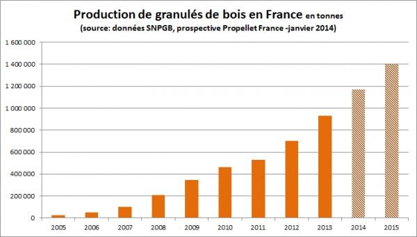 Production de granulé en France